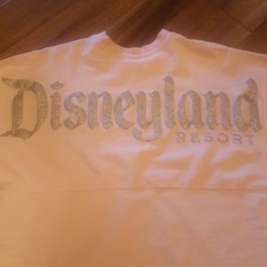 Disneyland long-sleeved tee, rose gold letters